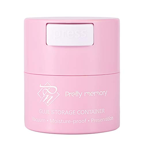 Pretty memory Glue Storage Container Tank Eyelash Extensions Adhesive Jar Stand Sealed Lash Artists Tool Pink