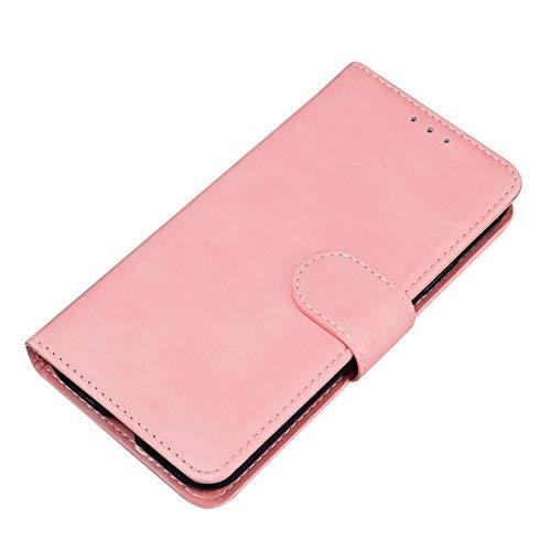 13peas Funda compatible con iPhone 12 Pro Max, funda de teléfono Apple con cierre magnético, función atril, tarjetero, PU Wallet para 12 Pro Max (rosa, 6,7 pulgadas)
