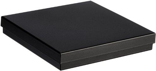 MTS Kette/Collier Schachtel Schmuck Etui schwarz Geschenk - Universal Verpackung Green Pack aus Biokunststoff ( Umweltfreudlich ) 16 x 16 cm 15 6037