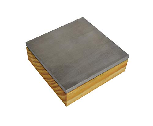 Steel Bench Block with Solid Wooden Base Stamping Block (3' x 3' x 1')