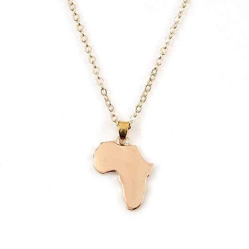 NC198 Collar, Collar, Collar de Mapa de África, joyería Africana, Collar Llamativo para Mujer, Collar de Cadena, Regalo