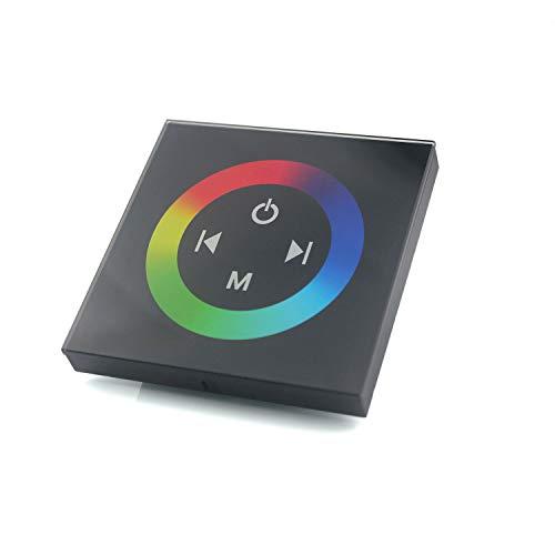 Taikuwu RGB LED panel táctil controlador negro 12-24V 288W cristal diseño óptica para tiras que cambian de color 4-Pin