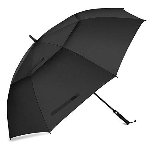 FIXM Golfschirm 172 cm Bogenlänge 153cm Durchmesser Golf Regenschirm, Automatisch Öffnen Golfschirm, Belüftete Doppelbespannung, Wasserdicht, rutschfest & Langlebig, Perfekt gegen Wind, Regen & Sonne