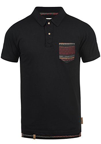 Indicode Alastair Herren Poloshirt Polohemd T-Shirt Shirt Mit Polokragen, Größe:XL, Farbe:Black (999)