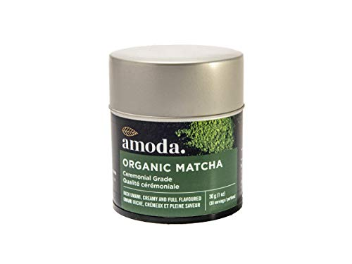MATCHA GREEN TEA POWDER - CEREMONIAL MATCHA by Amoda - Uji Matcha, Organic Ceremonial Matcha, Green Tea - Our matcha is sourced directly from the farm in Uji, Japan - For pure drinking 1oz 30 Servings