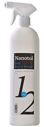 Nanotol Regenabweiser, Scheibenversiegelung Auto, Boot & Freizeit 2in1 Cleaner und Protector = Reinigung und Nanoversiegelung (1000ml)