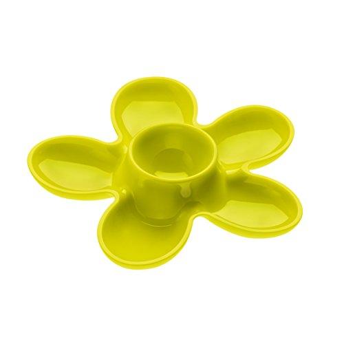koziol Eierbecher A-Pril, Kunststoff, senfgrün, 13.1 x 13.6 x 2.5 cm