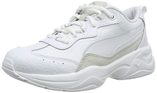 PUMA Damen Cilia Lux Sneaker, White White Silver, 36 EU