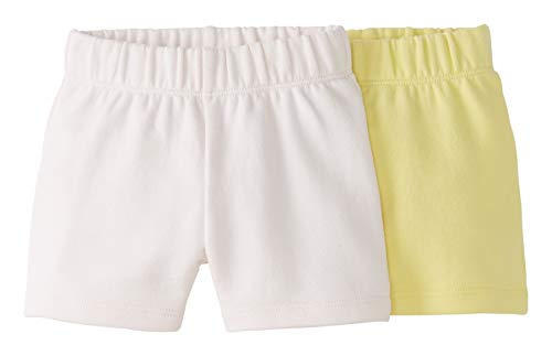Moon and Back by Hanna Andersson 2er-Pack Infant-and-Toddler-Shorts, Hellrosa, 12-18 Months