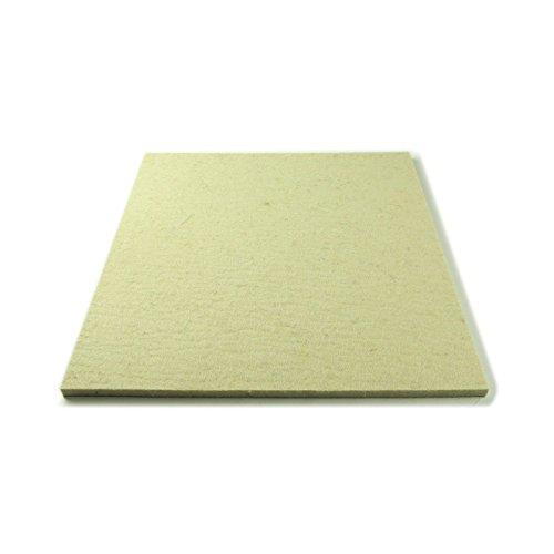 The Felt Store - Feltro (Industriale/di Lana) a Taglio, Media densità, 50 x 30 cm, 10 mm Spessore, Colore: Bianco
