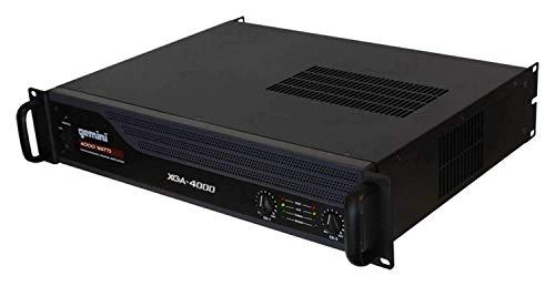 Gemini XGA Series XGA-4000 2 Channel Professional A/B Bridge PA System DJ Equipment Power 4000 Watt Instant Peak Power Rack Mount Audio Amplifier For Professional/Home Speaker Set Up
