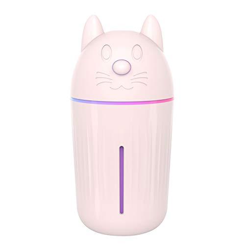 Sunshin Umidificador Mini USB Mist Umidificador bonito de 210ml pequeno com luz noturna colorida Umidificador Nano Spray com Modo de spray contínuo / intermitente Difusor de aroma Silencioso para mulheres