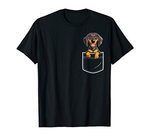 Dachshund in Your Front Pocket T Shirt Dog Puppy Gifts Women