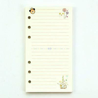 ARTFFEL Ambiental Cuaderno de Cuaderno de Hojas Sueltas de Estilo Encantador A5 A6 con Suministros de Oficina de núcleo Interno Kawaii Amistoso (Color : Line, Size : A6)