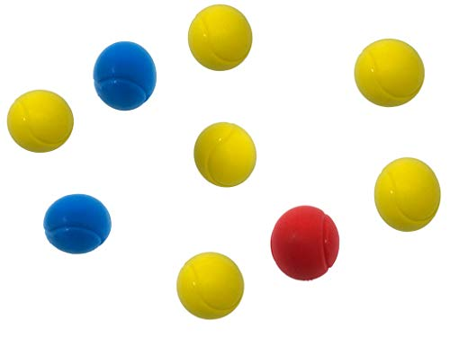 Soft Sponge Tennis Balls - Pack of 9 Assorted Colours