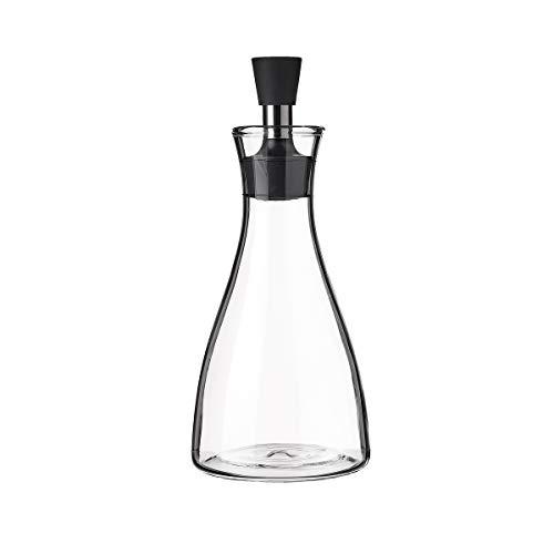 Aceitera antigoteo grande de cristal y acero inoxidable transparente de 500 ml - LOLAhome