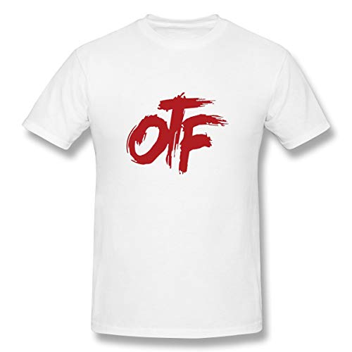 FUSTBIL Lil Durk Shirt for Mens/Womens Classic Style Lil Durk Short Sleeve White