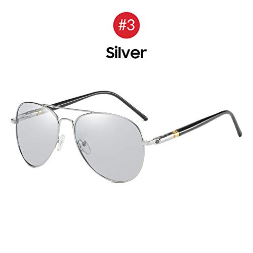 ERIOG Gafas de Sol Polarizadas Gafas de Sol fotocrómicas Hombres Aviación Polarizada UV400 Visión Diurna y Nocturna Conducción Gafas de Sol Mujeres Gafas de Titanio