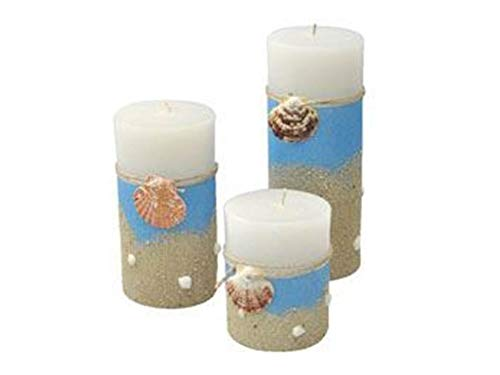 3 pcs Ocean themed decorative scented candle, sea shell candle, custom souvenirs, holiday decor