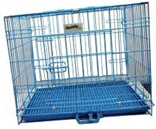 HANU Blue Cage/Crate/Kennel with Removable Tray for Dogs/Cats, (18inch) 03