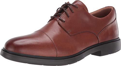 CLARKS Men's Un Tailor Cap Oxford, Tan Leather, 11.5
