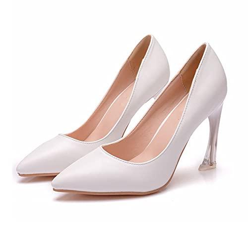 Zapatos Boda Mujeres,Zapatos Tacón Novia Talla Grande,Zapatos Dama Honor Boca Poco Profunda...