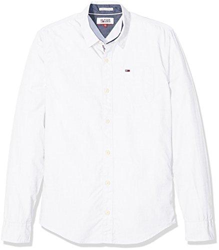 Tommy Hilfiger Original End Shirt l/s Top de Sport, Blanc (Classic White), X-Small Homme
