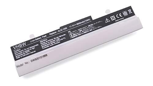 vhbw Akku für Asus Eee PC 1001/1005 / 1101 / R101 / R150 - Serie wie 1005P, 1005HA, R101D, R105D, 1001PXD Notebook Laptop - (Li-Ion, 6600mAh, 10.8V)