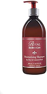 Royal Moroccan Formula - Moisturizing Shampoo For Dry and Colored Hair 500 ml 16.9 fl.oz, Base Of Moroccan Argan Oil, For Color – Treated Hair, Frizzy Hair.