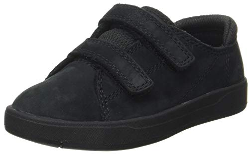 Timberland Unisex-Kinder Davis Square Leather Oxford Sneaker, Schwarz (Blackout Mesh&Nubuck), 40 EU