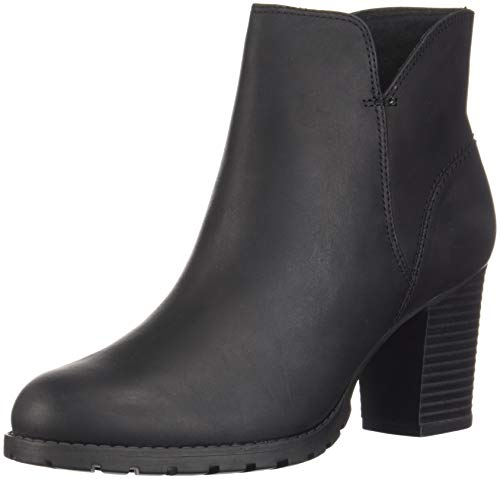 Clarks Women's Verona Trish Fashion Boot, Black Leather, 085 M US