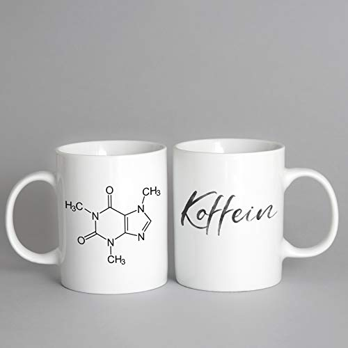 Koffein Strukturformel Kaffeetasse Becher lustige Geschenkidee Kaffeebecher