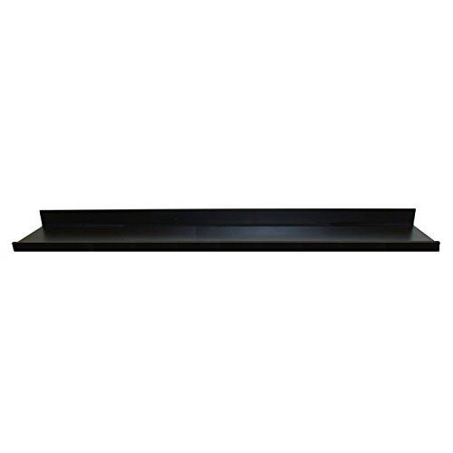 InPlace Shelving 9084684 Estante Flotante con repisa de Imagen, Negro, 172 cm de Ancho por 11,9 cm de Profundidad por 3,5 cm de Alto