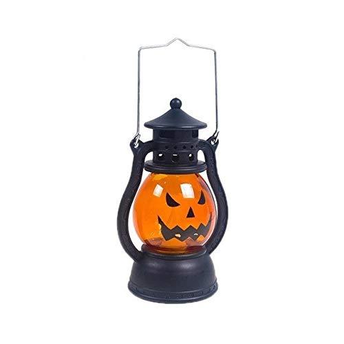 Yi Xuan Lámpara de Aceite Lámpara Creativa de Halloween de la Calabaza de la lámpara de la lámpara Colgante Portable de Viento decoración casera del Partido de Halloween (Color : A)