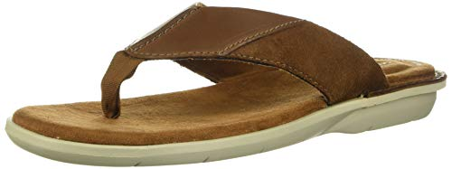 Clarks Men's Ellison Easy Flip-Flop, Tan Leather, 90 M US