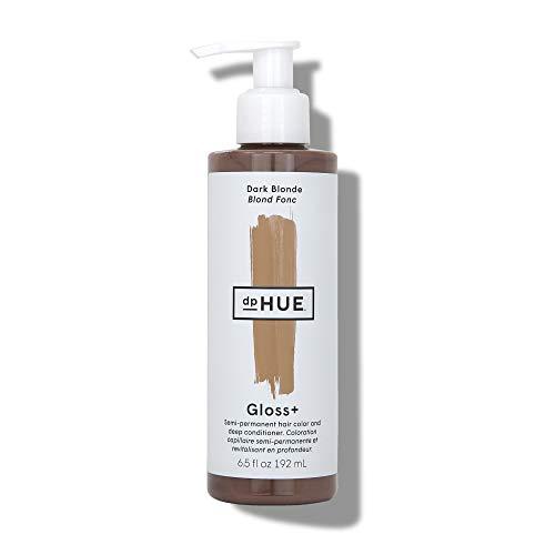 dpHUE Gloss+ - Dark Blonde, 6.5 oz - Color-Boosting Semi-Permanent Hair Dye & Deep Conditioner - Enhance & Deepen Natural or Color-Treated Hair - Gluten-Free, Vegan
