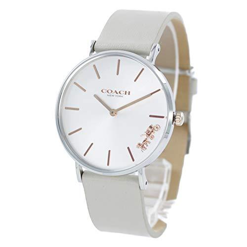 [コーチ]COACH 腕時計 ペリー 36mm 革ベルト シルバー×グレー 14503116 レディース [並行輸入品]