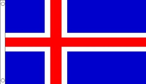 5 ft x 3 ft 150 x 90 cm) 100% Polyester Islande islandaise-matière Drapeau Banniere idéale pour Festival bar Club l'activité Décoration de Fête