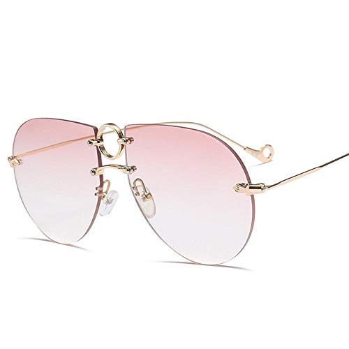HZFZ Gafas De Sol Sin Marco De Moda Gafas De Sol Personalizadas De Gran Tamaño Que Cubren Su Rostro Street Shot