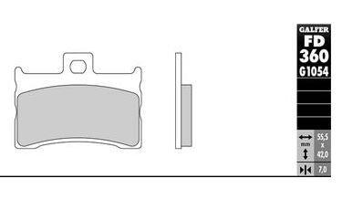 GALFER - Pastillas de freno FD360G1054 Compuesto Semi Metal Para motos METRAKIT MINI GP
