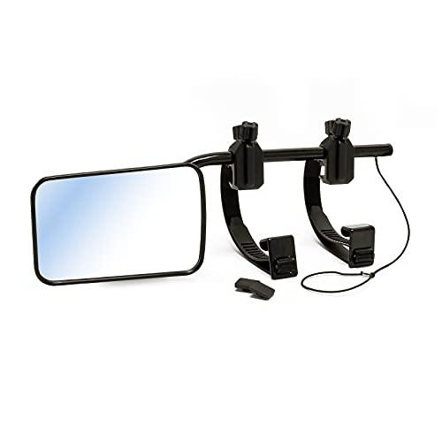 Wiltec Universal Caravanspiegel 123×180mm Aufsatzspiegel für Wohnwagen, Zusatzspiegel stufenlos verstellbar