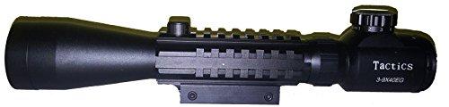 3-W-Hohenlimburg Zielfernrohr, Fernrohr 3-9 x 40, rot/grün zentrisch beleuchtet (Batterie inkl.), Länge ca. 262mm, Schutzabdeckung, 459g, Massive Metallausführung, passend Zielscheibe