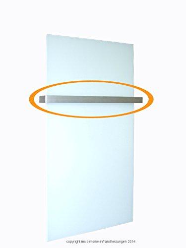 Handtuchhalter für heatness Infrarotheizung Glas rahmenlos