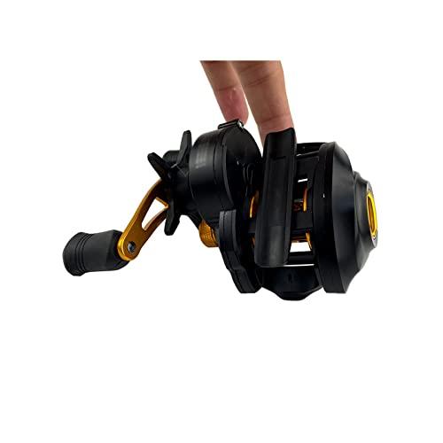 Carrete de pesca giratorio Carrete de baitcasting Relación de engranaje de alta velocidad Sistema de freno magnético de agua salada fresca Carrete de pesca ultraligero Carrete de pesca ultraligero(S