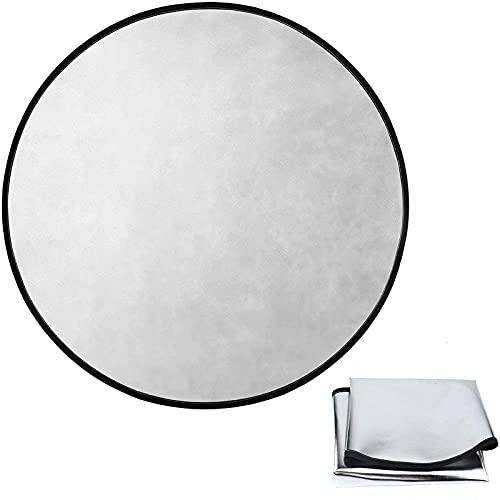 Tapis ignifuge - Tapis de protection de sol - 61 cm de diamètre - Film en fibre de verre et aluminium - Résistant au feu de camp, défenseur de pelouse, protection de la planche et de la chaleur