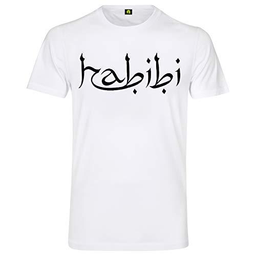 Habibi T-Shirt | Habibti | Geliebter | Liebling | Freund | Araber | Türkei Weiß S