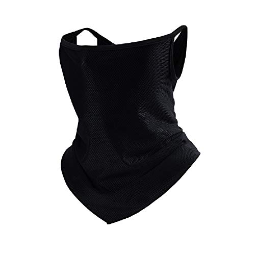 Multifunctional bib face mask scarf winter cold protection and sunscreen unisex mask with ear hook
