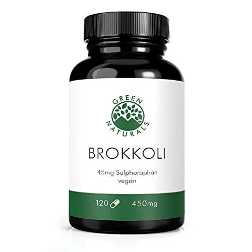 Broccoli (120 cápsulas á 450mg) - 10% sulforafano (45mg) - Producción alemana - 100% Vegano y sin aditivos