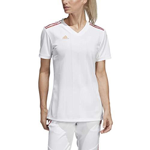 adidas Women's Alphaskin Tiro Jersey, White/Nude Pearl Essence, Large