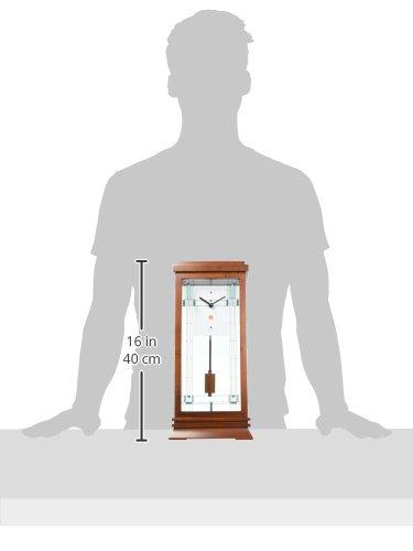 Bulova B1839 Willits Frank Lloyd Wright Mantel Clock, 14, Walnut Finish